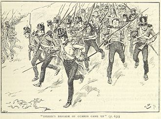 Battle of Barrosa - General Dilke's brigade advances (illustration from a British book)