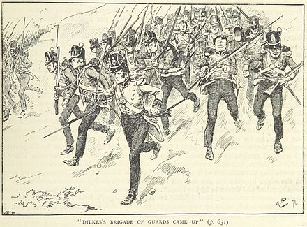 General Dilke's brigade advances (illustration from a British book) Dilke's brigade at Barrosa.jpg