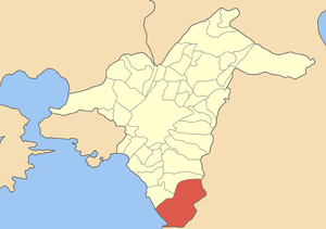 Locator map of Glyfada municipality (Δήμος Γλυ...