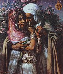 Esclave d'amour et Lumière des yeux : Abd-el-Gheram et Nouriel-Aîn, Légende arabe