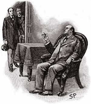 The Adventure of the Greek Interpreter - Sherlock Holmes, Dr. Watson and Mycroft Holmes in the Diogenes Club