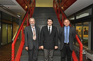 Max Planck Institute for Solar System Research - Prof. Ulrich Christensen (left), Prof. Dr. Laurent Gizon (centre) and Prof. Dr. Sami K. Solanki (right)