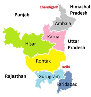 Ambala division - Administrative Divisions of Haryana