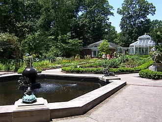 Dixon Gallery and Gardens - Sculpture gardens, conservatory, and fountain