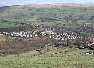 Dobcross - Image: Dobcross from a distance
