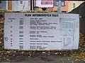Domažlice, autobusové stanoviště u nádraží, přehled linek.jpg