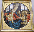 Domenico ghirlandaio e bottega, madonna col bambino, san giovannino e tre angeli, 1490 ca..JPG