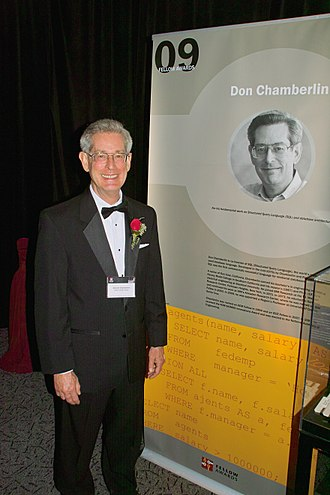 Donald D. Chamberlin - Don Chamberlin at the Computer History Museum's 2009 Fellows Award event