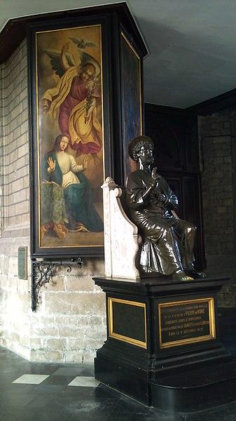 Douai - Collégiale Saint-Pierre - Saint Pierre et 2 volets du triptyque de Lambert Lombard