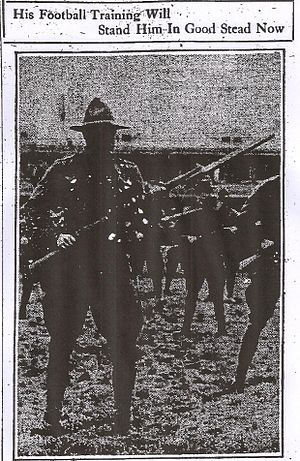 Douglas Bomeisler - Bomeisler in a bayonet charge at Plattsburgh, New York, in 1917.