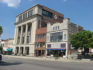 National Register of Historic Places listings in Lawrence County, Indiana - Image: Downtown Bedford, Indiana