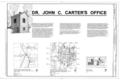 Dr. John C. Carter's Office and Springhouse, 118 West Johnson Avenue, Springdale, Washington County, AR HABS ARK,72-SPRIGD,3- (sheet 1 of 4).png