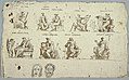 Drawing, Designs for paintings in Montmorency- The Nine Muses and two masks, Tragedy and Comedy, 1813 (CH 18123737).jpg