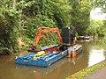 Dredging at Obridge on the canal at Taunton.JPG