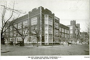 Dunbar High School (Washington, D.C.) - Dunbar High School, Washington DC in 1917