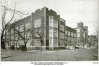 Dunbar High School (Washington, D.C.) - Dunbar High School, Washington DC in 1917
