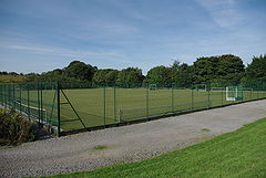 A picture of Durham School's all-weather sports pitch