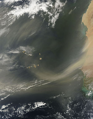 Saharan Air Layer - Dust Plumes off Western Africa.