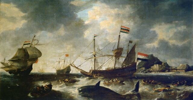 Dutch Whaling Scene Bonaventura Peeters