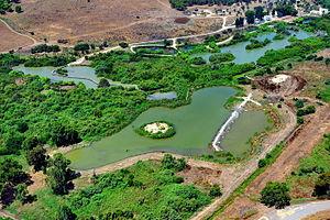 Tel Afek - Ein Afek Aerial photo