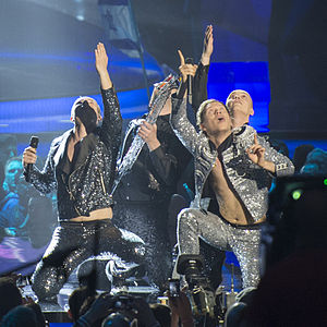 Latvia in the Eurovision Song Contest - Image: ESC2013 Latvia 09 (crop)
