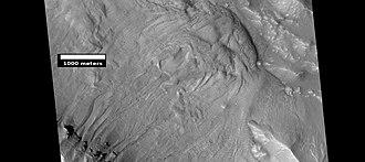 Mare Acidalium quadrangle - Image: ESP 024951gulliesandflow