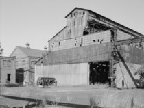 EXTERIOR VIEW, WEST FACADE LOOKING NE. - John A. Roebling's Sons Company, Kinkora Works, Steel and Rolling Mills, Roebling, Burlington County, NJ HAER NJ,3-ROEBL,1A-46.tif