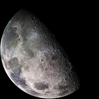 Geology of the Moon - The same image using different color filters