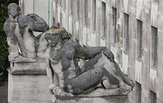 Horse Guards Avenue - Charles Wheeler's architectural sculptures of Earth and Water
