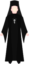 Eastern Orthodox Hieromonk - vestments.svg