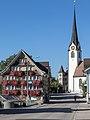 Ebnaterstrasse mit Ev.-Ref. Kirche in Ebnat-Kappel.jpg
