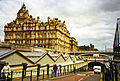 Edinburgh Waverley station, cab exit to Waverley Bridge geograph-3848629-by-Ben-Brooksbank.jpg