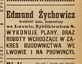 Edmund Żychowicz, advertising (Gazeta Lwowska 1920, № 115).jpg