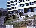 Eger, Leányka út 6. Tanárképző Főiskola parkja. Megyeri Barna szobrai- Fekvő nő I-II. Fortepan 20982.jpg