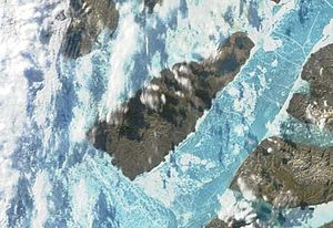 Eglinton Island - Terra/MODIS satellite image of Eglinton Island