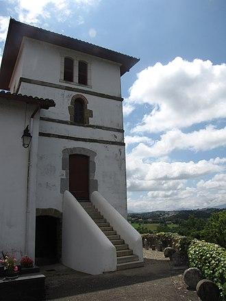 Jatxou - The church of Saint Sébastien, in Jatxou