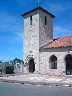Brax, Lot-et-Garonne - The church in Brax
