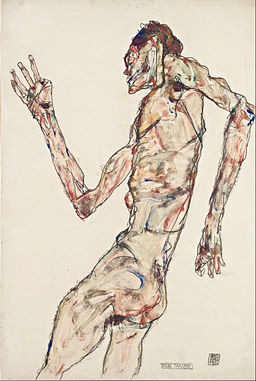 Egon Schiele - The Dancer - Google Art Project