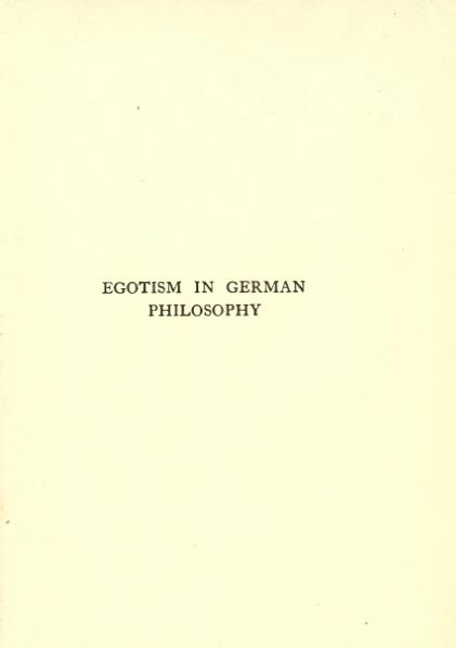 File:Egotism in German Philosophy (1916).djvu