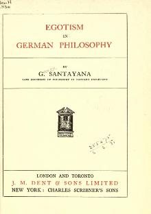 Egotism in German Philosophy (1916).djvu