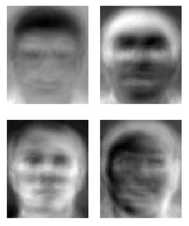 Eigenface set of eigenvectors used in the computer vision problem of human face recognition