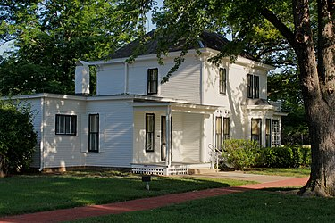 The Eisenhower family home in Abilene, Kansas Eisenhower House 1.jpg