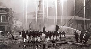 Ejercicio bomberos pza. sotomayor, 1899.jpg