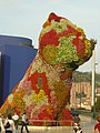 El Doggy, a sculture in front of the Guggenheim Museum in Bilbao.JPG