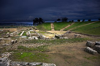 Elis (city) - Remains of the theatre of Elis