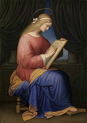 Mary Writing the Magnificat