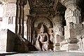 Ellora Caves, India, Rock-cut carvings in ancient Jain temple.jpg