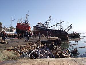 2015 Illapel earthquake - Image: Embarcaciones varadas en Coquimbo
