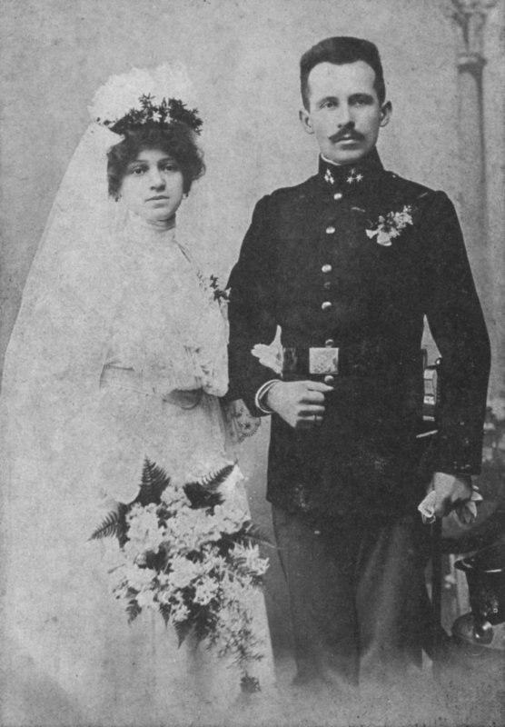 Emilia and Karol Wojtyla wedding portrait