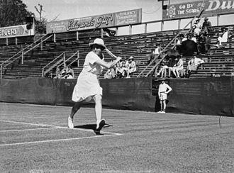 Emily Hood Westacott - Emily Hood Westacott at the Milton Courts in Brisbane, Australia (1940)
